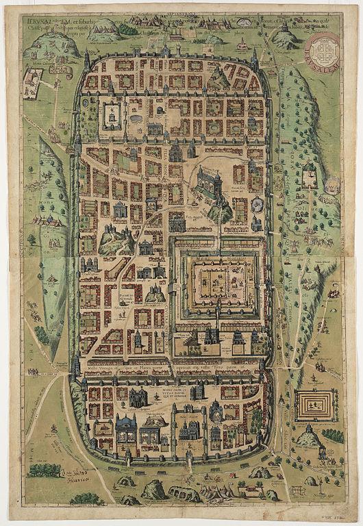 Christian_Kruik_van_Adrichem._Ierusalem,_et_suburbia_eius._1584